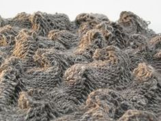 Claire Crompton: 'MakeUnmakeRemake' (2010)  materials: jacob, shetland and merino handspun yarn  exhibited: Off the Beaten Track at Devonport Guildhall, Plymouth 28 May to 2 June 2010