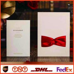 2014 New Wedding Invitations Bowknot Invitations Card Elegant HQ1043 Online with $1.26/Piece on My_shop's Store   DHgate.com
