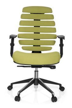 Bürostuhl / Drehstuhl ERGO LINE II Stoff grün hjh OFFICE