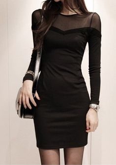 Lookbook store black mesh dress