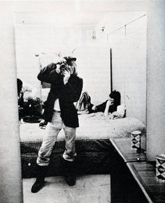 Brian Jones shooting Keith Richards, at the Rolling Stones Rock & Roll Circus, 1968