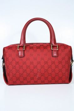 Gucci Handbags Red Fabric and Leather 272375 « Clothing Impulse
