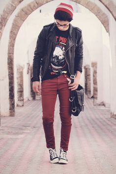 Burgundy - Beenie and pants love