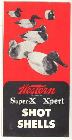 Western Super X Xpert shot shell vintage brochure