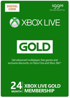 Amazon.com: Xbox Live 24 Month Gold Membership [Online Game Code]: Video Games