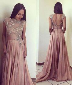Charming O-Neck Beading Prom Dresses,Long Prom Dresses,Cheap Prom Dresses, Evening Dress Prom Gowns, Formal Women Dress,Prom Dress