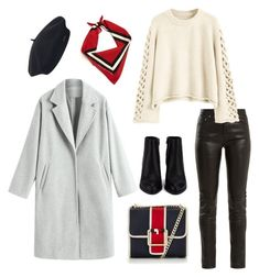 """""""winter chic"""" by ania-personal-stylist on Polyvore featuring Yves Saint Laurent, Tommy Hilfiger, Alexander Wang, Element, Winter, outfit, hat, coat and winteroutfit"""