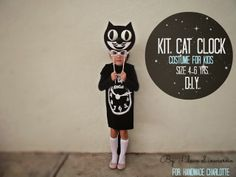Kit cat clock costume DIY (My 1st contribution with awesome Handmade Charlotte blog )