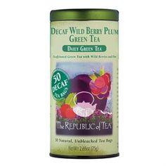 Decaf Wild Berry Plum Green Tea Bags | The Republic of Tea