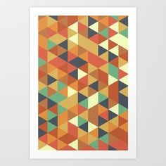 Triangle Pattern II Art Print by Zeke Tucker - $17.68
