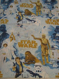Vintage 1970s Star Wars sheet set... I need this for Joseph!!!