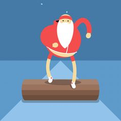 Training Santa Claus Babbo Natale fitness Check, Deliver, Consume, Recover - James Curran