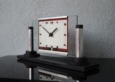 1930.fr Ato clock modernnist - Sold items - Art deco sculptures bronze clocks vases