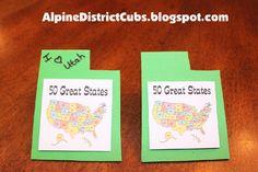 50 Great States Neckerchief Slides - Core Value Citizenship - Theme 50 Great States