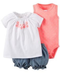 Details about Carters Cotton Embroidered Top Bodysuit Bubble Shorts Set Baby Girl 6 Months Carters Baby Clothes, Carters Baby Girl, Cute Baby Clothes, Babies Clothes, Babies Stuff, Newborn Girl Outfits, Toddler Girl Outfits, Outfits Niños, Kids Outfits