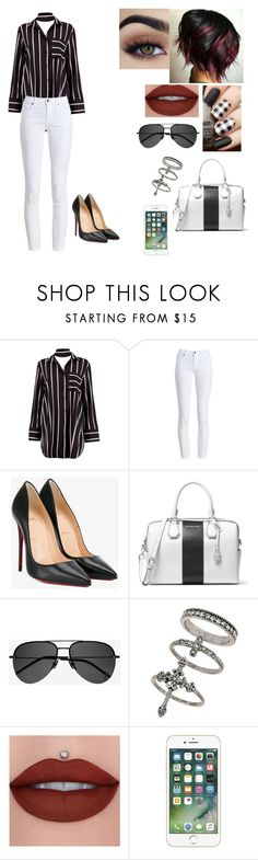 """job interview💕"" by jcastleeex on Polyvore featuring Boohoo, Barbour, Christian Louboutin, MICHAEL Michael Kors, Yves Saint Laurent and Miss Selfridge"