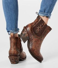 4d164d692debd0 Corral Glitter Leather Ankle Boot - Women s Shoes in LD Brown