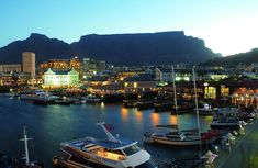 The Victoria & Alfred Waterfront in the historic heart of Cape Town's working harbour is South Africa's most-visited destination having the highest rate of tourists in the hole country. Amazing Places On Earth, Great Places, Places To Go, Best Tourist Destinations, V&a Waterfront, Cape Town South Africa, Table Mountain, Catamaran