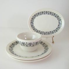 Vintage Restaurant Ware Plate Set Syracuse China by WoolTrousers.