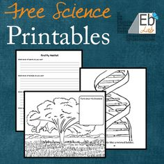 Lots of science printables for free, with no strings attached. I'll be adding to this list as time goes on - Enjoy!