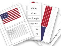 Montessori Flag Building and Counting Activities for The Fourth of July with free printable!