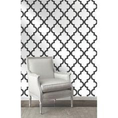 Devine Color Cable Stitch Wallpaper - Black & White
