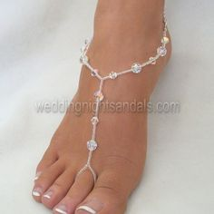 Crystal Foot Jewelry goes perfectly with your Wedding Night Lingerie. Look like a princess on your Wedding Night.