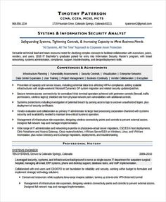 Security Analyst Resume Technical Theatre Resume Template  The General Format And Tips