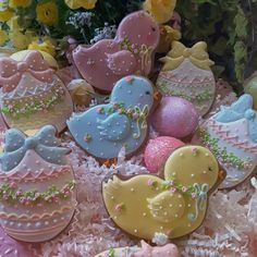 Eggs and chicks Easter cookies