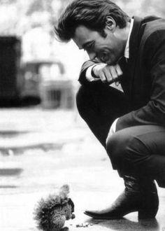 Clint Eastwood. Go ahead squirrel, make my day.