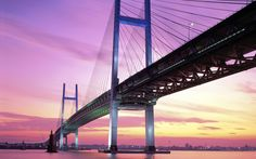 Yokohama Bay Bridge Japan  #Bay #Bridge #Japan #Yokohama