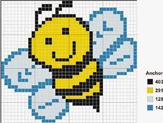 Bee perler bead pattern