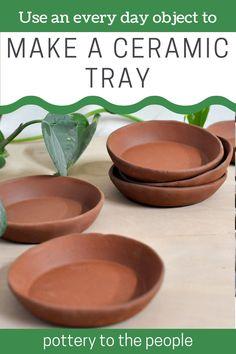 Everyday Items, Everyday Objects, Pottery Videos, Plaster Molds, Dog Bowls, Glaze, Tray, Tutorials, Ceramics
