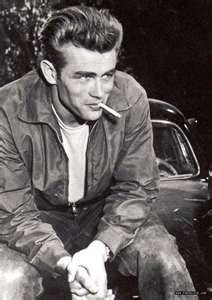 Rebel Style In The 50's white undershirt being seen under just a jacket with jeans, it became more common to dress more casually