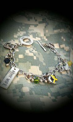 Items similar to Army Wife Camo bracelet on Etsy