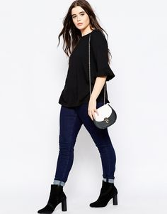 Image 4 of ASOS CURVE T-Shirt With Frill Sleeve THIS outfit for one look