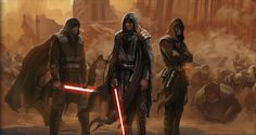 Sith warriors on the Sith home world of Korriban.