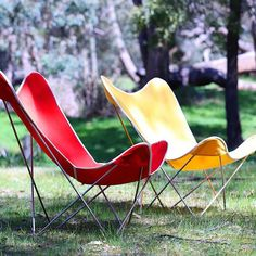 The Butterfly Chair, as seen in its natural habitat. Long weekend hours, Fitzroy showroom open today 10-2, Sunday 11-5. Brunswick warehouse closed. #butterflychair #madeinmelbourne #angelucci20thcentury