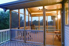 Elevated Screened Porch traditional porch