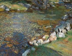 John Singer Sargent (1856-1925) Val d'Aosta: Stepping Stones, c. 1907 Oil on canvas 22 1/4 x 28 1/4 inches