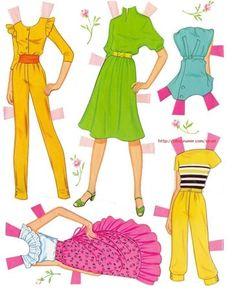 종이인형 (핑크 바비) : 네이버 블로그--Barbie paper doll book