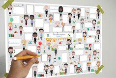 Affiche Anniversaire - 40 bulles - livre d'or anniversaire - à télécharger et à imprimer : Ecole et loisirs par affiche-rgb4you #affiche #fete #anniversaire #mariage #livredor