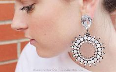 Most of the materials used for these DIY statement earrings came from local crafts stores or Etsy.