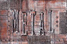 Thème métal - Carte postale créée avec du ruban d'aluminium (scotch de plombier) - tutoriel en vidéo