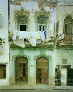 Art nouveau buildings in Havana, Cuba. Photos by Michael Eastman Cienfuegos, Art Nouveau, Havana House, Places To See, Caribbean, Beautiful Places, To Go, Around The Worlds, Clotheslines