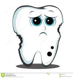 Cartoon Tooth Dental Cavity Stock Images - Image: 3234654