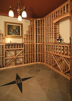 Craftsman House Plan Wine Cellar Photo for Home Plan also known as the Ingrams Mill Luxury Home from House Plans and More. Two Story House Plans, House Plans And More, Oaks House, Home Wine Cellars, Wine Sale, Arts And Crafts House, Great Rooms, Craftsman