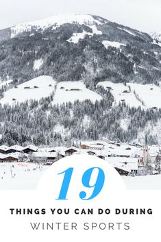 There's a lot more to do besides skiing and snowboarding during a winter sports holiday. I give you 19 examples of things you can do! #winter #winteriscoming #wintersports #austria #reizen #travel #travelblog #traveling #traveltips