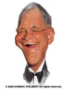 David Letterman  Artist: Dominic Philibert  website: http://dominicphilibert.blogspot.com