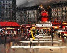 Kal Gajoun se inició en el mundo del arte a una edad muy temprana. Su obra está compuesta basicamente por paisajes urbanos de Paris, Londres y algunas ciudades italianas. La belleza de sus obras es inmensa.